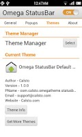 Screenshot of Omega StatusBar Pro