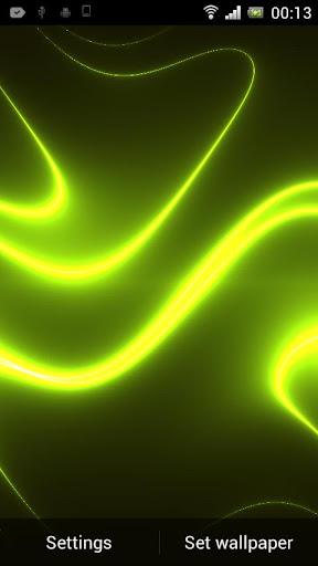 Neon Glitter Wave HD LWP