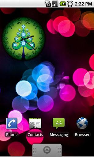 Xmas Green Tree Clock