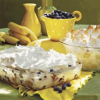 Blastin' Banana-Blueberry Pudding.