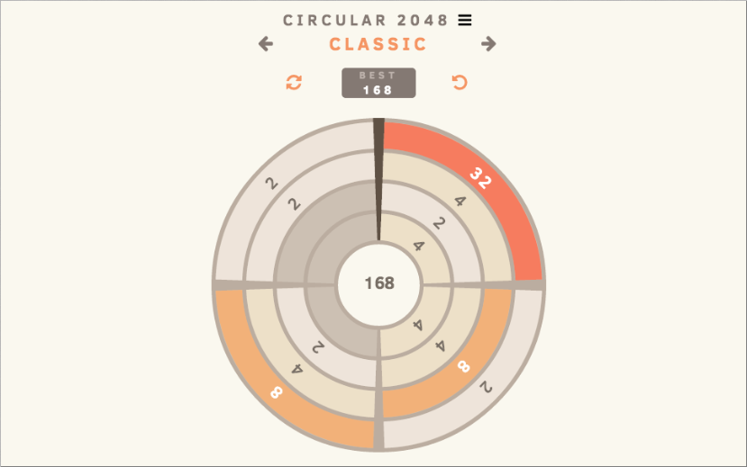 Circular 2048- screenshot