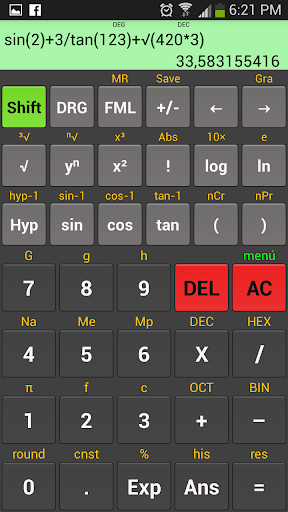 Kal Scientific calculator