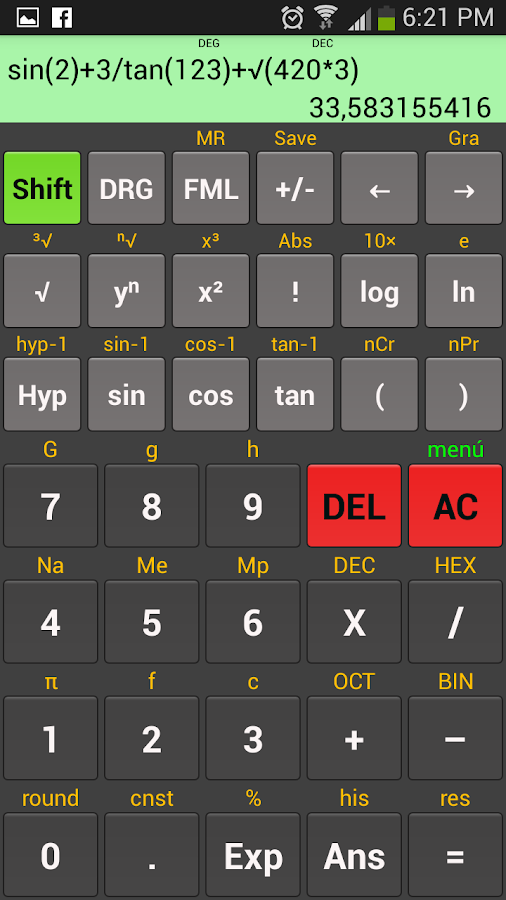 Scientific calculator Kal- screenshot