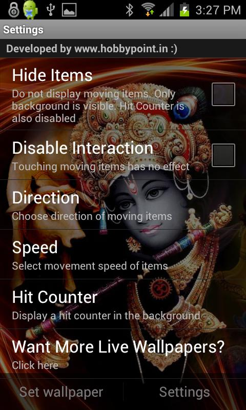 KRISHNA HQ Live Wallpaper - screenshot