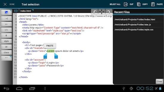 玩免費生產應用APP|下載WebMaster's HTML Editor app不用錢|硬是要APP