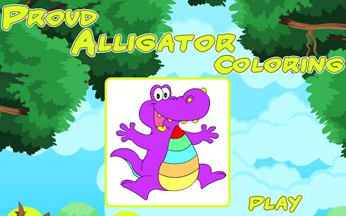 Coloring Proud Alligator