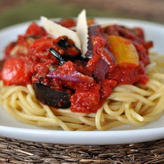 Roasted Balsamic Vegetable Pasta Sauce.