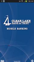 Screenshot of Clear Lake Bank & Trust Mobile