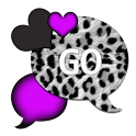 GO SMS THEME/LovePurpleLeopard icon