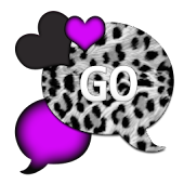 GO SMS THEME/LovePurpleLeopard