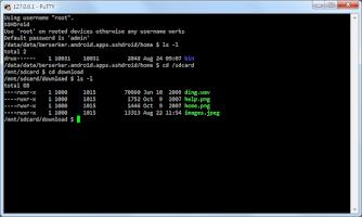 Screenshot of SSHDroid unlocker