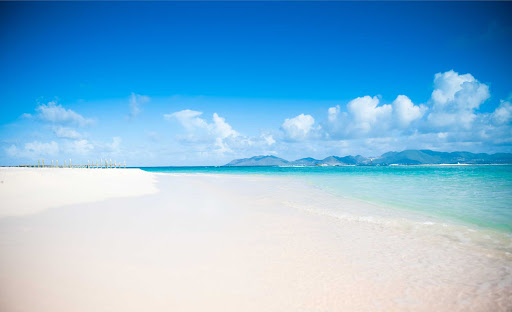 Sandy-Point-Anguilla - One of the pristine white sand beaches that graces Anguilla.