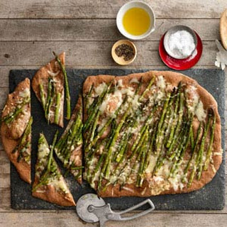 Roasted Asparagus and Fontina Pizza