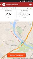 Screenshot of Map My Ride+ GPS Cycling