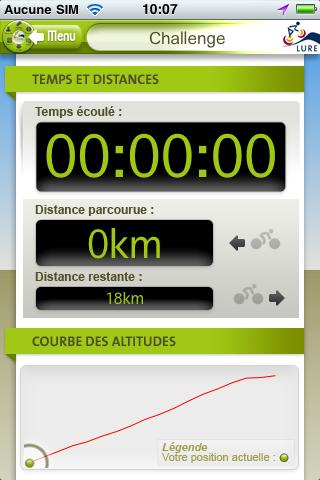 Lure Cycling Challenge- screenshot