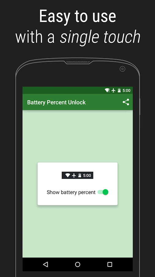 Battery Percent Unlock - screenshot