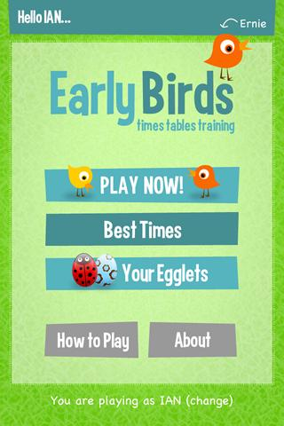 Early Birds Times Tables- screenshot