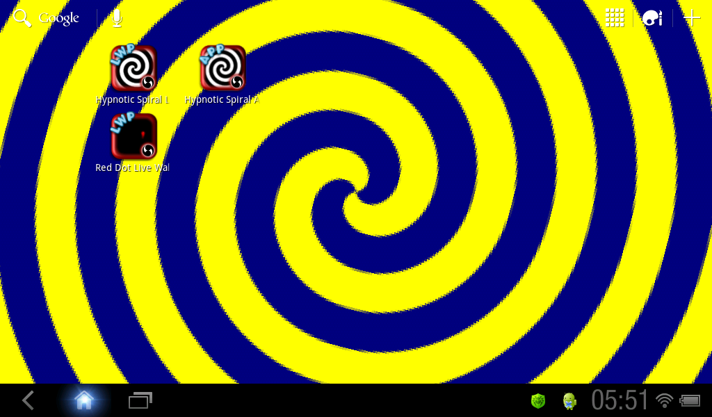 Hypnotic Spiral Live Wallpaper- screenshot