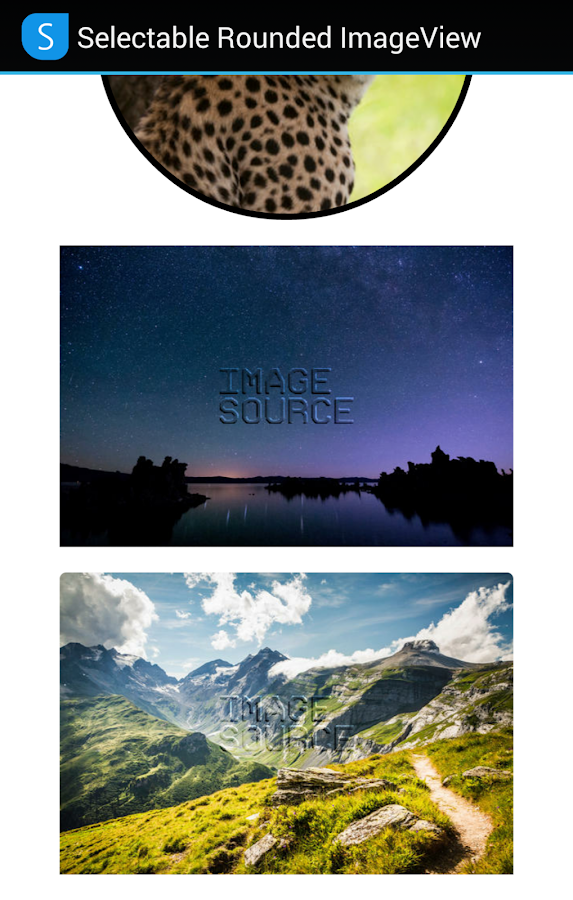 SELECTABLE ROUNDED IMAGEVIEW- screenshot