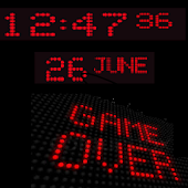 LED Clock Live Wallpaper
