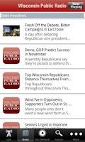 Screenshot of Wisconsin Public Radio App