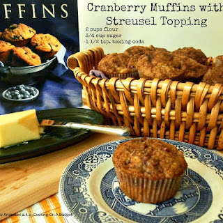 Cranberry Muffins with Streusel Topping