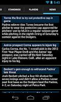 Screenshot of Baseball Scores MLB 2015