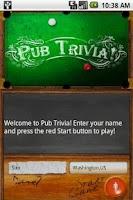Screenshot of Pub Trivia