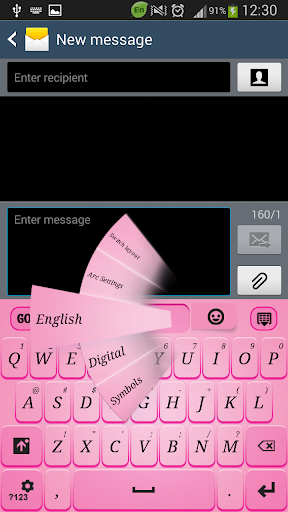 키보드 핑크