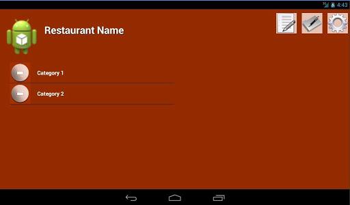 eMenu - Hotel Restaurant bill