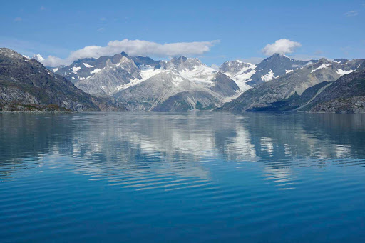 reflect-Glacier-Bay - A glacier reflects in the waters of Glacier Bay National Park, Alaska