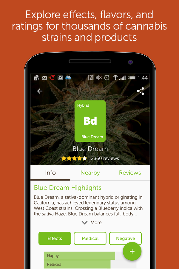 Leafly Marijuana Reviews- screenshot