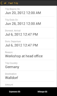 SAP Travel Expense Report - screenshot thumbnail
