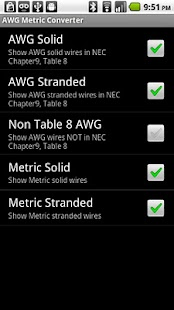 AWG Metric Wire Converter - screenshot thumbnail