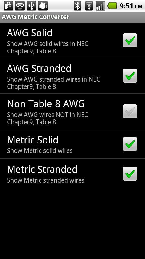 AWG Metric Wire Converter - screenshot