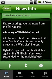 Keo.co.za Rugby App - screenshot thumbnail