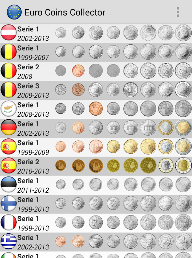 1 euro coins by country : Funny cat pushing things off table