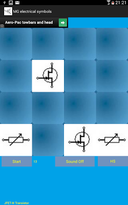 Electrical Symbols Memory Game - screenshot