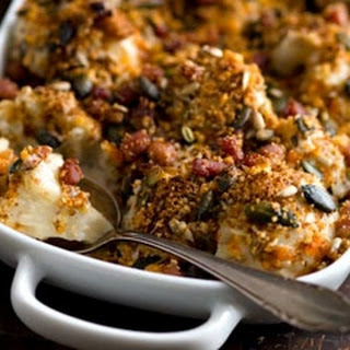 Cauliflower, Bacon And Mustard Gratin