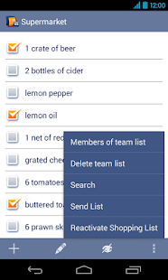 Shopping Lists Manager - screenshot thumbnail
