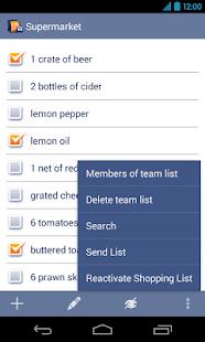 Shopping Lists Manager - screenshot thumbnail
