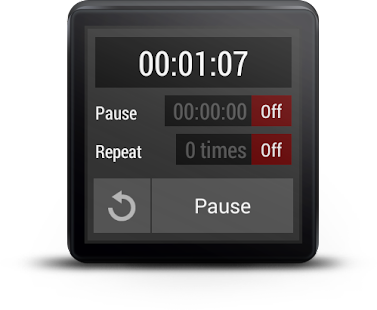 Interval Timer - Android Wear Screenshot