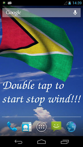 3D Guyana Flag Live Wallpaper+