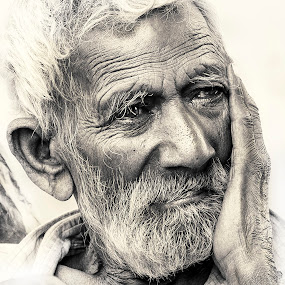 Indian by Svetlin Ivanov - Black & White Portraits & People ( indian, picsvet, india, people,  )