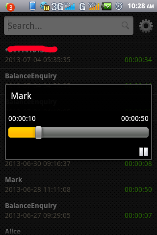 Live Call Recorder - screenshot