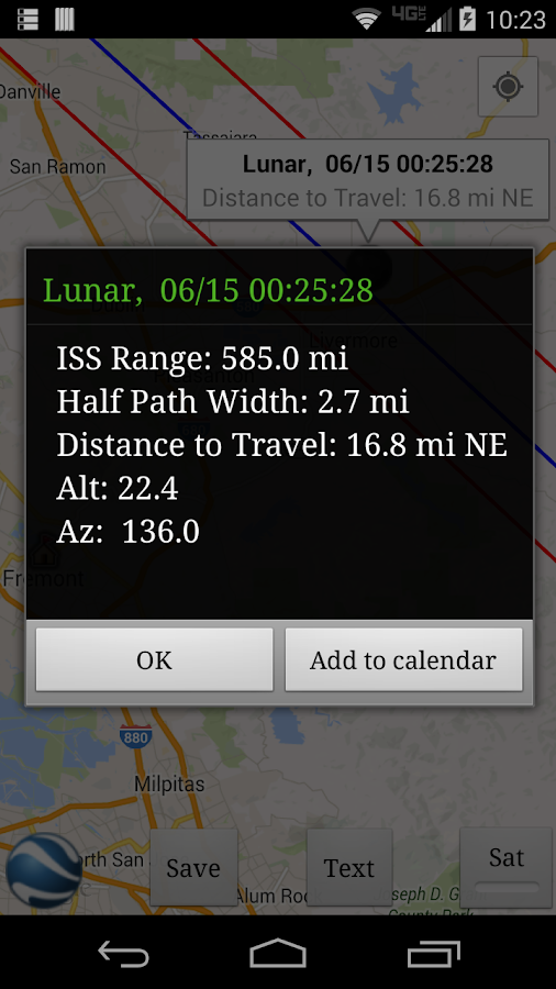 ISS Transit Prediction Free - screenshot