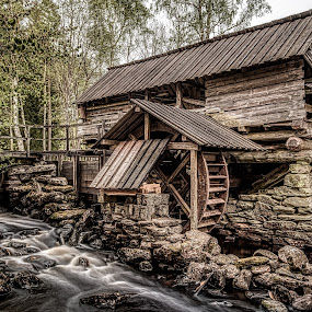 Brunnsbacka Mill by Colin Harley - Buildings & Architecture Public & Historical ( water, mill, wheel, wood, d5200, nikkor, trees, forest, nikon, stones, rocks )