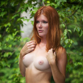 by Mg Photography - Nudes & Boudoir Artistic Nude ( model, topless, ginger, beautiful, beauty, posing, red head, breast, perfection, red hair, tan lines, modeling, breasts, sxy, tan,  )
