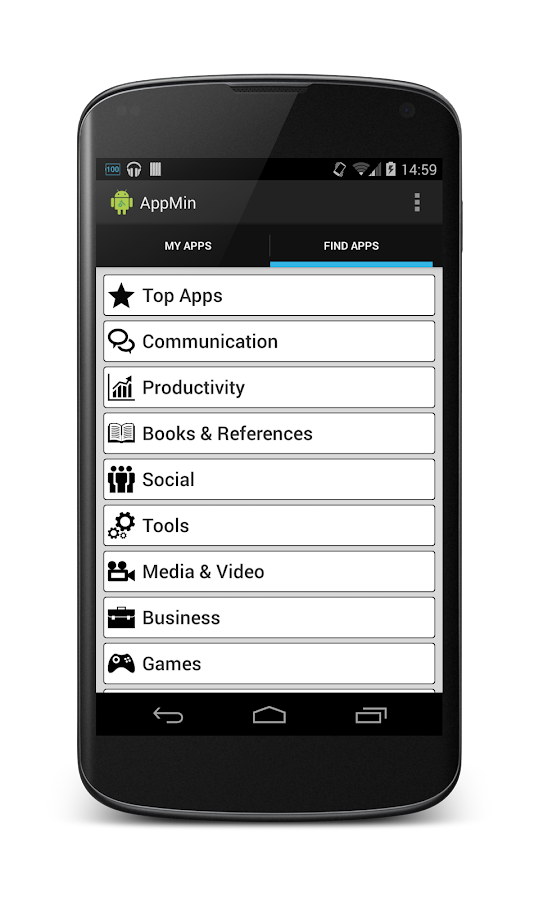 AppMin - The App Administrator- screenshot