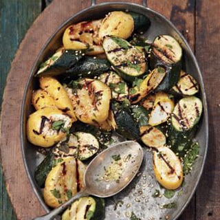 Grilled Summer Squash with Fresh Mint Vinaigrette